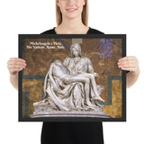 Framed poster - The Papal Basilica of St. Peter - Michelangelo's Pietà - The Vatican, Rome, Italy - Catholicism