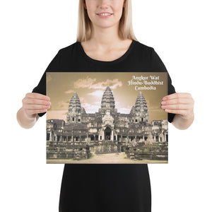 Canvas - Angkor Wat - One of the largest religious monuments - Hinduism and Buddhism - Cambodia