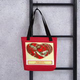 Tote bag - Lowest cost with our logo with Radha-Krishna heart - Spread love all around!