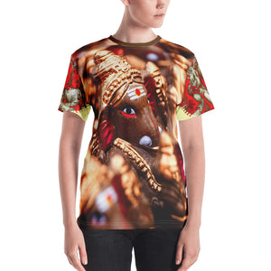 Women's T-shirt - All Over Print with Ganesha's images - Hinduism