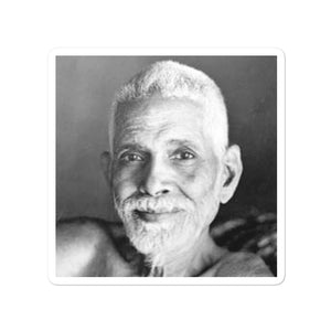 Bubble-free stickers - Sri Ramana Maharishi - Living in the Infinite Light and Love - Hinduism