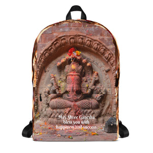 Ganesha - Backpack - May Shree Ganesha bless you with happiness and success - Hinduism