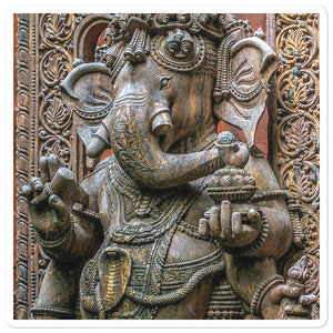 Bubble-free stickers - Ganesha for great Luck and beginnings! - Hinduism