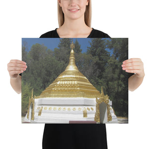 Canvas - Pagoda - TKAM Boulder Creek - California - Theravada Buddhism