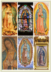 Gelato Print - Premium Semi-Glossy Paper Metal (Gold Colored) Framed Poster - The Miracle of the Virgin of Guadalupe - Nuestra Señora de Guadalupe - Mexico - Catholicism