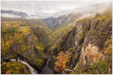 GELATO GLOBAL PRINT - Landscape Aluminum Print - Mabodalen valley and waterfall -  Hardangerfjord National Parks,  Eidfjord, Norway