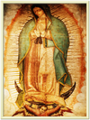 GELATO GLOBAL PRINT - Premium Semi-Glossy Paper Gold-Metal Framed Poster - Our Lady of Guadalupe, also known as the Virgen of Guadalupe - Mexico - Catholicism