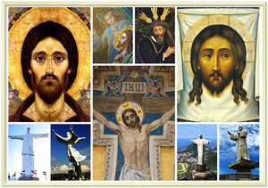 Gelato print - Premium Semi-Glossy Paper Metal Framed Poster - Images of jesus Christ - Crucifixion's, Trials and Statues from over the world