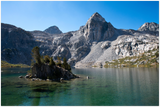 Landscape Aluminum Print -  Beautiful Rae Lakes on the John Muir Trail in Kings Canyon Nation Park in the High Sierra Mountains - CA USA
