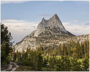 Landscape Aluminum Print - The John Muir Trail through Cathedral Pass - view of Cathedral Peak, Yosemite National Park, CA USA