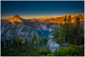 GELATO GLOBAL PRINT - Landscape Aluminum Print - Half Dome at Sunset Glacier Point - Yosemite National Park in CA USA