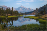 GELATO GLOBAL PRINT - Landscape Aluminum Print - Mt Dana view on Lake - Yosemite National Park in CA USA