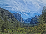 GELATO GLOBAL PRINT - Landscape Aluminum Print - Beautiful spectacular landscape view - Yosemite National Park in CA USA