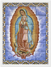 GELATO GLOBAL PRINT - Premium Semi-Glossy Paper Wooden Framed Poster - Nuestra Señora de Guadalupe (México)as the Virgen of Guadalupe - Mexico - Catholicism