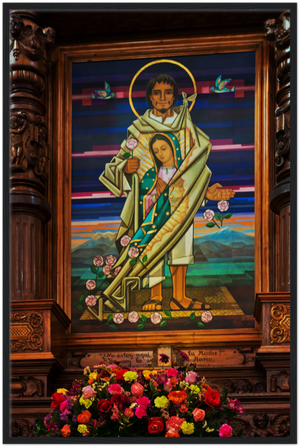 GELATO GLOBAL PRINT - Our Lady of Guadalupe - Premium Semi-Glossy Paper Wooden Framed Poster - Indians Chapel/Capilla del Indio  at La Villa de Guadalupe, Mexico City - Mexico - Catholicism