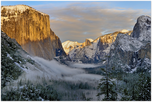 GELATO GLOBAL PRINT - Landscape Aluminum Print - El Capitan and Half Dome seen from Tunnel View - Yosemite National Park in CA USA