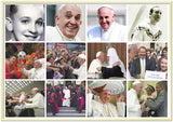 Gelato print - Premium Semi-Glossy Paper Metal (gold color) Framed Poster - Great Moments in the Life of Pope Francis - Catholicism