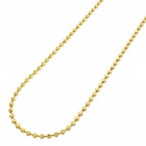 2 MM GOLD BEAD CHAIN - DRIP MIAMI
