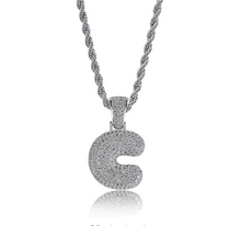 Load image into Gallery viewer, .925 C Pendant with Necklace with Silver Rope Chain - DRIP MIAMI