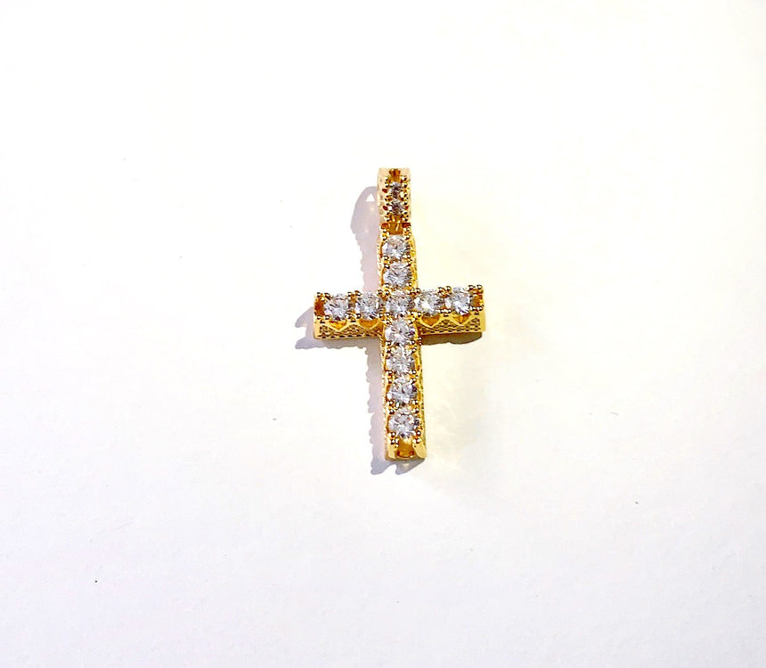 MIRCO CROSS WITH CZ - NO CHAIN - DRIP MIAMI