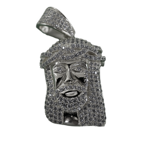 MIRCO JESUS PENDANT IN WHITE GOLD - DRIP MIAMI