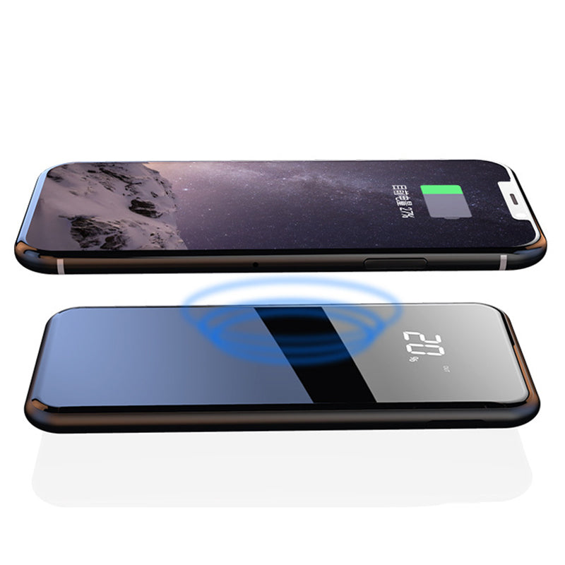 LCD Dual USB 10000mAh Wireless Charger Power Bank