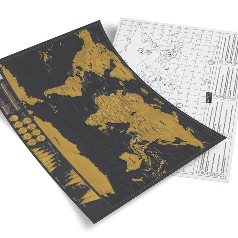Scratch Off World Map Poster - Ultimate Travel Edition