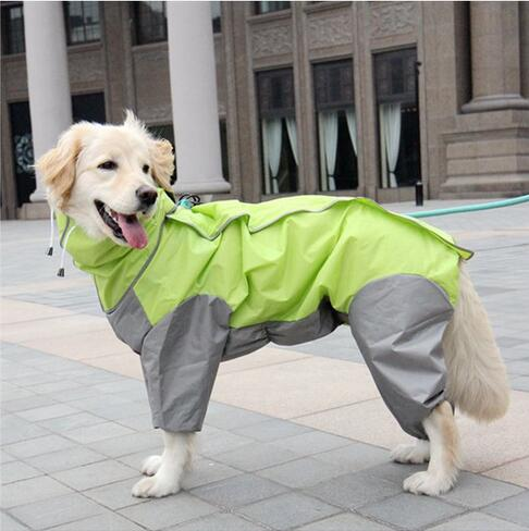 All Weather Dog Raincoat with Hood & Collar