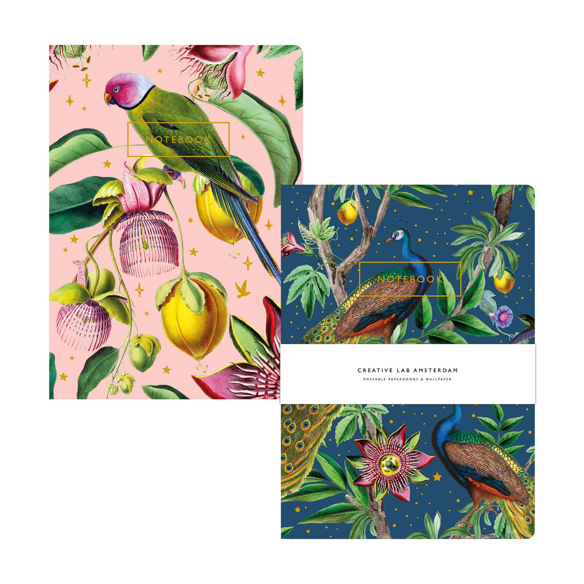Conjunto 2x Notebook Passion Peacock/Botanic Garden