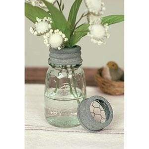 1/4 Pint Mason Jar Flower Frog - Box of 4 - Countryside Home Decor