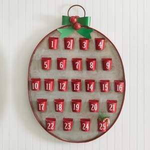 25 Days of Christmas Metal Advent Calendar - Countryside Home Decor