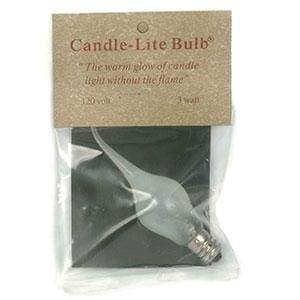 3 Watt Large Candle-Lite Light Bulb - Box of 12 - Countryside Home Decor