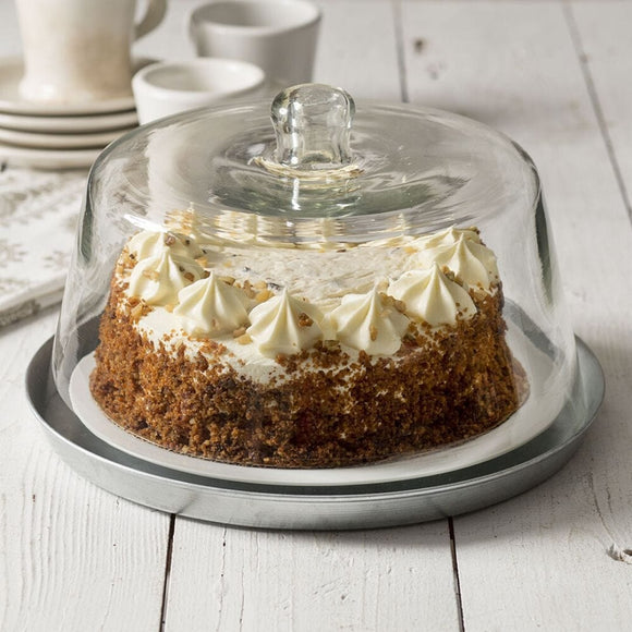 Glass Dessert Cloche With Base - Countryside Home Decor