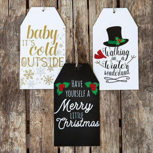 Set of Three Holiday Script Tags