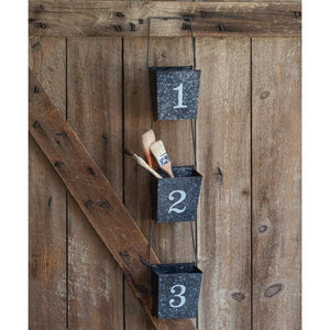 Set of Three Numbered Wall Pockets