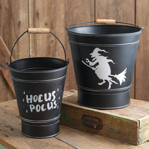 Set of Two Witch Buckets