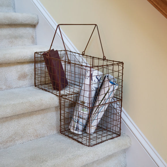Wire Staircase Organization Basket