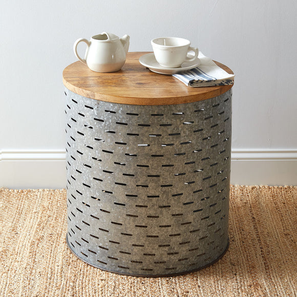 Olive Bucket Side Table