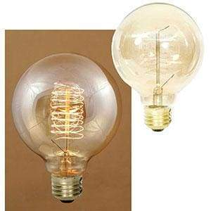 40 Watt Balloon Vintage Style Bulb With Spiral Filament - Countryside Home Decor