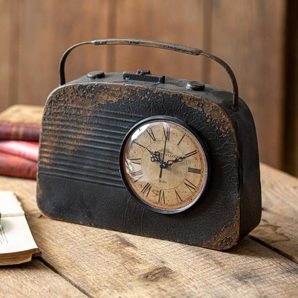 Vintage Radio Table Clock - Countryside Home Decor