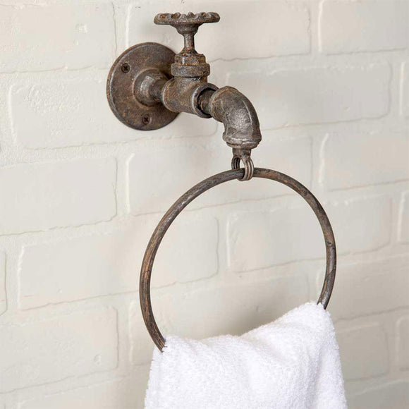 Water Spigot Towel Ring - Box of 2 - Countryside Home Decor