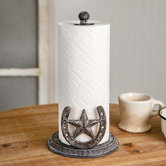 Horseshoe Paper Towel Holder - Countryside Home Decor