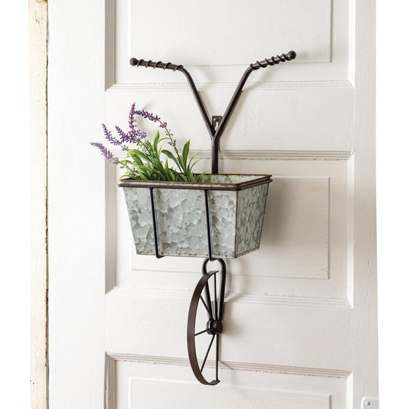 Bicycle with Basket Wall Planter - Countryside Home Decor