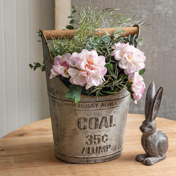Coal Bucket with Wooden Handle - Countryside Home Decor