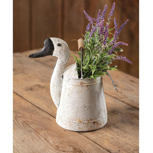 Goose Bucket with Wood Handle - Countryside Home Decor