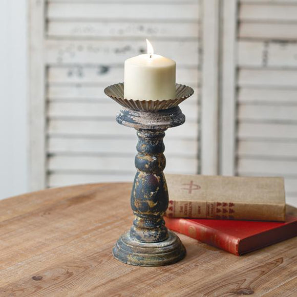 Small Distressed Candle Stand - Countryside Home Decor