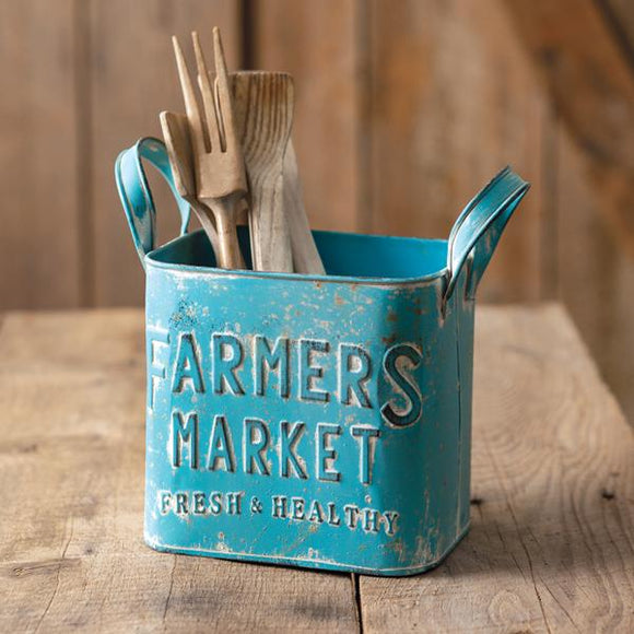 Farmers Market Container with Handles - Countryside Home Decor