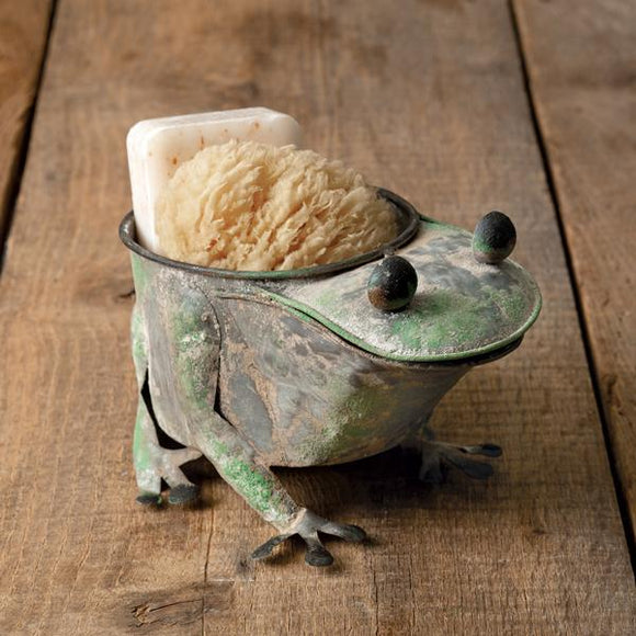 Rusty Frog Planter - Countryside Home Decor