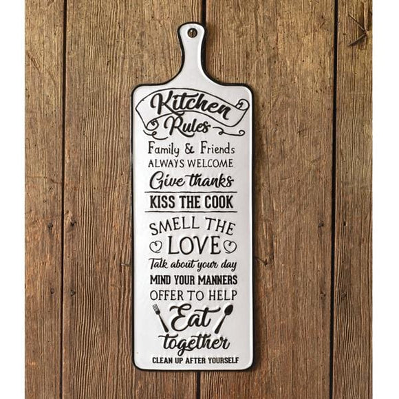 Kitchen Rules Sign - Countryside Home Decor