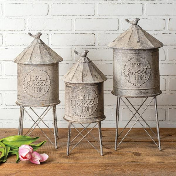 Set of Three Silo Containers - Countryside Home Decor
